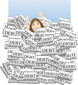 drowning-in-debt
